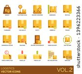 logistics icons including... | Shutterstock .eps vector #1396223366