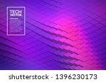retrowave abstract vector... | Shutterstock .eps vector #1396230173