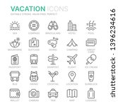 collection of vacation line...   Shutterstock .eps vector #1396234616