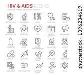 collection of hiv and aids line ... | Shutterstock .eps vector #1396234619