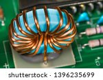 copper wire winding. inverter...   Shutterstock . vector #1396235699