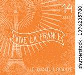 bastille day. july 14. concept... | Shutterstock . vector #1396235780