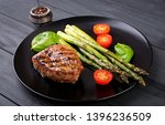 barbecue grilled beef steak... | Shutterstock . vector #1396236509