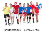 large group of sports people.... | Shutterstock . vector #139623758