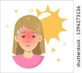 heat stroke concept. risk of... | Shutterstock .eps vector #1396273136