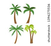 flat set of palm trees | Shutterstock . vector #1396275536