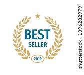 best seller badge logo design.  | Shutterstock .eps vector #1396282979