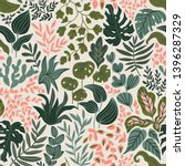 greenery seamless pattern in... | Shutterstock .eps vector #1396287329