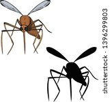 mosquito  pest with a... | Shutterstock .eps vector #1396299803