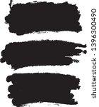 set of vector brush strokes.... | Shutterstock .eps vector #1396300490