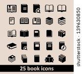 book icon set in vector | Shutterstock .eps vector #139630850