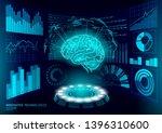 brain diagnostic treatment low... | Shutterstock .eps vector #1396310600