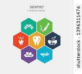 simple set of white teeth ... | Shutterstock .eps vector #1396311476