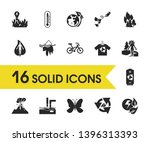 eco icons set with go green ...