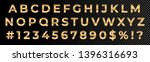 golden font numbers and letters ... | Shutterstock .eps vector #1396316693