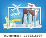 tickets season sale. travel... | Shutterstock .eps vector #1396316999