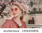 outdoor close up spring fashion ...   Shutterstock . vector #1396320896