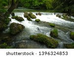 Pastoral View River With Rapid...
