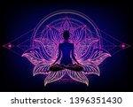chakra concept. inner love ... | Shutterstock .eps vector #1396351430