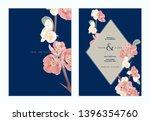 floral wedding invitation card... | Shutterstock .eps vector #1396354760