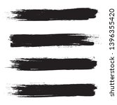brush stroke set isolated on... | Shutterstock .eps vector #1396355420