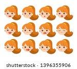 isolated vector set of... | Shutterstock .eps vector #1396355906
