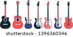 electric guitars and acoustic... | Shutterstock .eps vector #1396360346