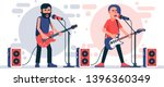 rock singer with an electric... | Shutterstock .eps vector #1396360349