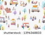 street food festival seamless...   Shutterstock .eps vector #1396368833