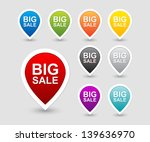 colorful sale tags icon set | Shutterstock .eps vector #139636970
