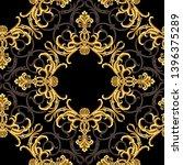 golden elements in baroque ... | Shutterstock . vector #1396375289