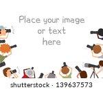 many photographers taking...   Shutterstock .eps vector #139637573