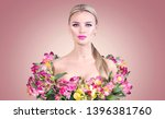 beauty blonde model girl in... | Shutterstock . vector #1396381760