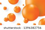 orange ball abstract isolated... | Shutterstock .eps vector #1396382756