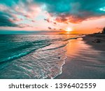 Golden Beach Sunset On A...