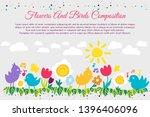 birds and flowers flat banner... | Shutterstock .eps vector #1396406096