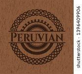 peruvian badge with wood...   Shutterstock .eps vector #1396409906