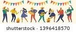 festa junina. vector templates... | Shutterstock .eps vector #1396418570