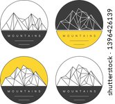 round emblems with polygonal... | Shutterstock .eps vector #1396426139