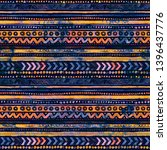 seamless watercolor ethnic... | Shutterstock . vector #1396437776
