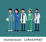 hospital people characters set. ... | Shutterstock .eps vector #1396439960