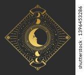 vector illustration in magic... | Shutterstock .eps vector #1396453286