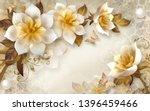 3d flower wallpaper 3d... | Shutterstock . vector #1396459466