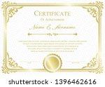 certificate or diploma vintage... | Shutterstock .eps vector #1396462616