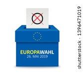 german text europawahl 2019 ... | Shutterstock .eps vector #1396471019