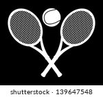 monochrome tennis design over... | Shutterstock .eps vector #139647548
