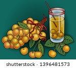 juice  berries  cherries hand... | Shutterstock .eps vector #1396481573