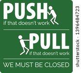 vector door sticker sign. push... | Shutterstock .eps vector #1396484723