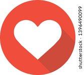 red heart icon illustration... | Shutterstock .eps vector #1396490099