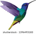colored colibri bird flying... | Shutterstock .eps vector #1396493183